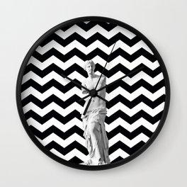 Black and White Venus Wall Clock