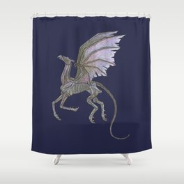 Thestral #3 Blue Shower Curtain