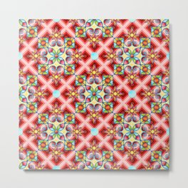 Op Art Arabesque Metal Print