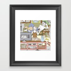 Living together Framed Art Print