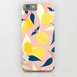 ,Blue ,Leaves, Tropical ,Yellow ,Organic iPhone Case