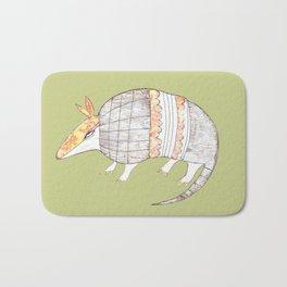 Stich and Fauna:  Armadillo Bath Mat