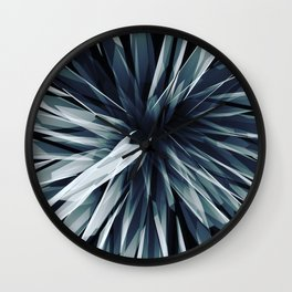 Perspective Facets-Retro Blue Wall Clock