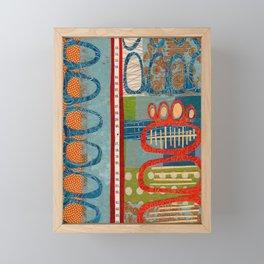 skipping stones Framed Mini Art Print