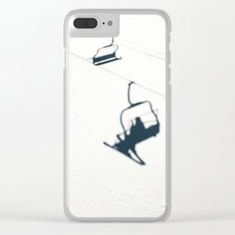 Chair lift shadow Clear iPhone Case