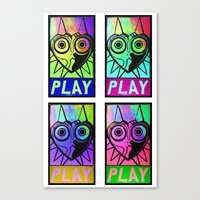 majora Canvas Prints featuring Majora Commands You by Shy Guy Street Art