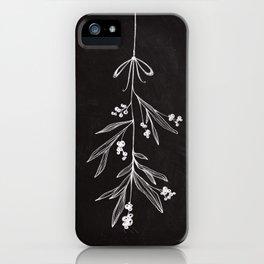 Chalkboard Art - Mistletoe iPhone Case