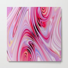 Waves and swirls, abstract, decorative patterns, colorful piece no 18 Metal Print