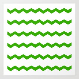 Green Chevron Art Print
