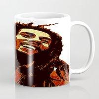 reggae Mugs featuring the god of reggae by  Agostino Lo Coco