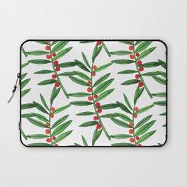 Christmas Botanical Laptop Sleeve