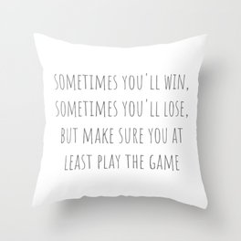 Play The Game Throw Pillow