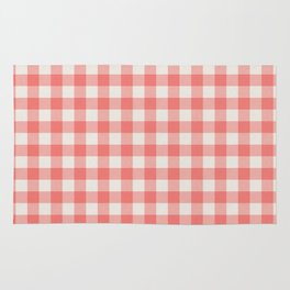 Modern red white classic 80s picnic pattern Rug