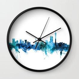 Johannesburg South Africa Skyline Wall Clock