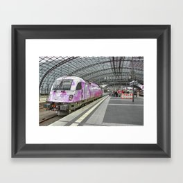 Berlin Electric Pink Framed Art Print