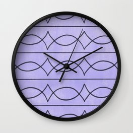 Metalwork and Lavender Wall Clock
