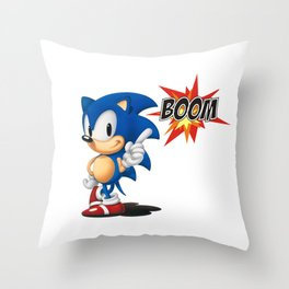 Sonic BOOM Throw Pillow