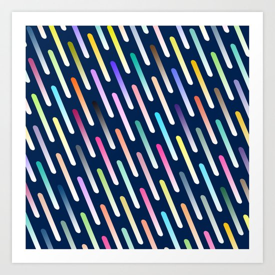 Abstract cosmic rain Art Print