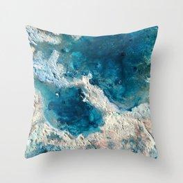 Frozen Lakes Throw Pillow