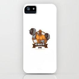 Steel Hero Gym iPhone Case