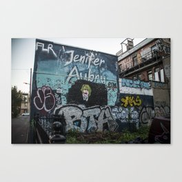 Blue Street Art Canvas Print