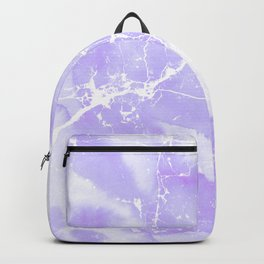 Modern abstract blush violet white marble pattern Backpack