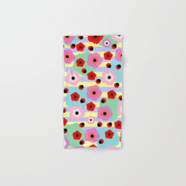 Poppies and stripes Hand & Bath Towel