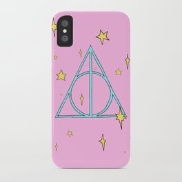 Harry potter // pastel deathly hallows iPhone Case