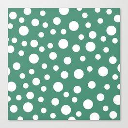 Crazy Dots: Comfrey Green  Canvas Print