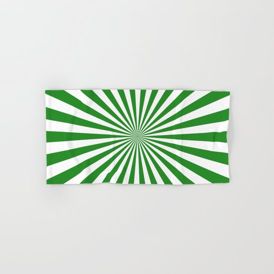 Starburst (Forest Green/White) Hand & Bath Towel
