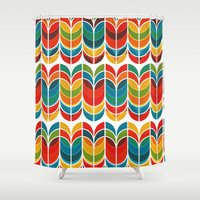 tulip Shower Curtains featuring Tulip by Picomodi