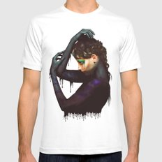 The Girl 2 White Mens Fitted Tee MEDIUM