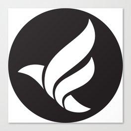 LFN b&w logo Canvas Print