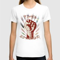 revolution T-shirts featuring Revolution by PsychoBudgie