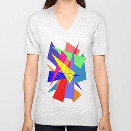 Colour triangles Unisex V-Neck