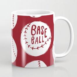 Baseball red pattern Coffee Mug