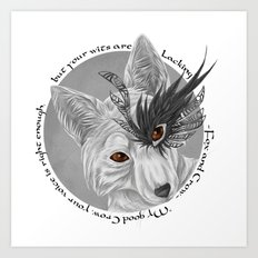 fox and crow  Art Print