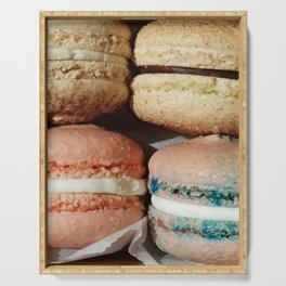 Spring flavors in French Macaroons Serving Tray