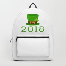 2018 St. Patrick_s Hat Green Shamrock Clover Irish Backpack