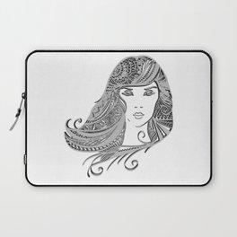 zentangle portrait 4 Laptop Sleeve