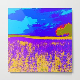 Lilac meadow of Provence Metal Print