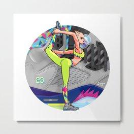 Yoga girl Cool Noodle and Jordan Fresh Prince Metal Print