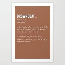 Browncoat Art Print