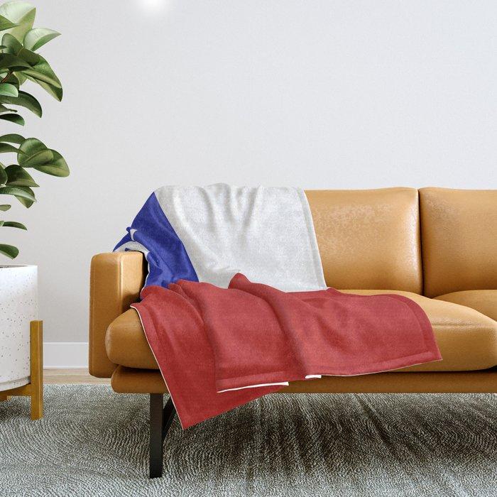 Chile flag emblem Throw Blanket