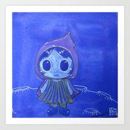Moonkhin 5 (Iridum Cobalt) Art Print