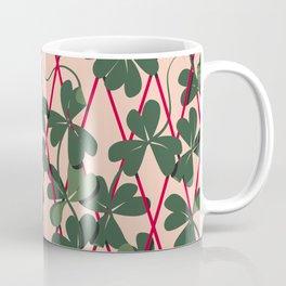 Never Give Up - Green + Red Coffee Mug