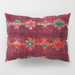 -A8- Colored Traditional Moroccan Carpet Artwork. Pillow Sham