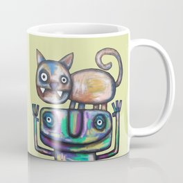 Juggler with Cat Coffee Mug