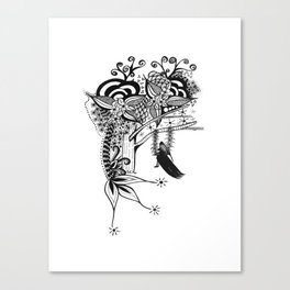 The Swing Ink drawing by Saribelle Canvas Print
