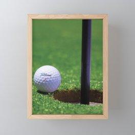 Golf Ball Framed Mini Art Print